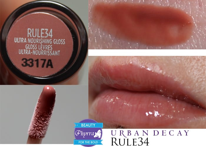 Urban Decay Naked Ultra Nourishing Lipgloss Rule34 Swatch Review