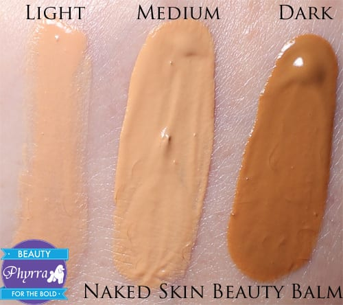 Urban Decay Naked Skin Beauty Balm Naked Light, Medium, Dark, Swatches, Review