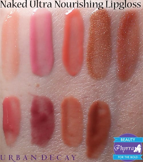 Urban Decay Naked Ultra Nourishing Lipglosses Swatches Review