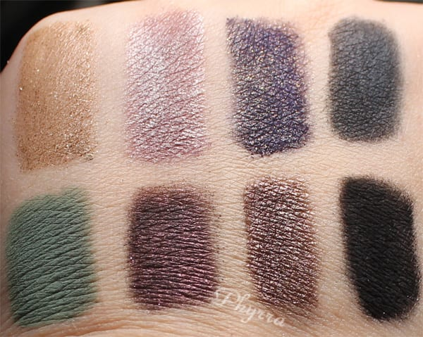 bareMinerals Degrees of Dazzling Swatches Review