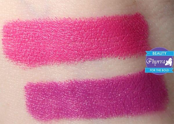 Bite Beauty Matte Crème Lip Crayons Grape Satsuma Swatches
