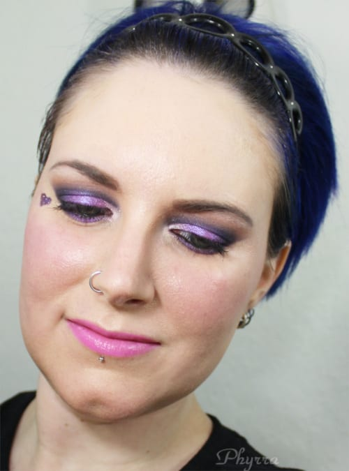 Wearing Bodyography Electric Lip Slide in Cheeky Baby