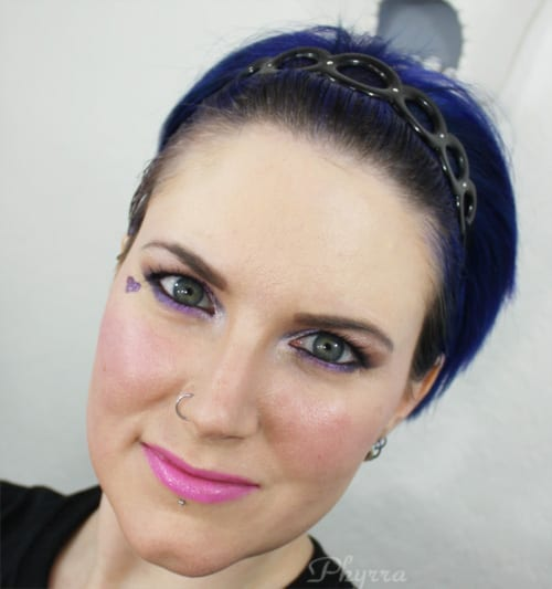 Wearing IID HAC Foundation in Light. See my tutorial