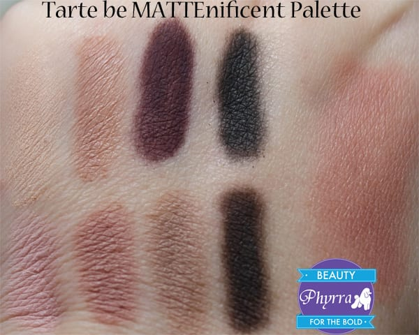 Tarte be MATTEnificent colored clay eye & cheek palette Review Swatches Video