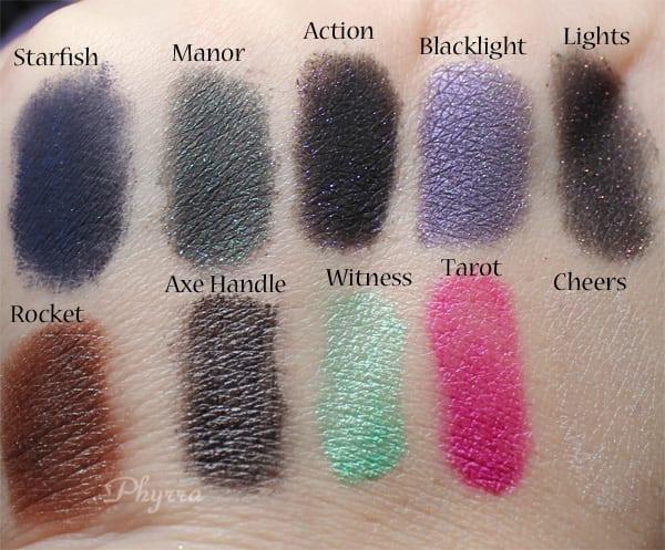 Whip Hand Cosmetics Eyeshadow Swatches
