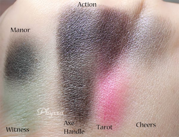Whip Hand Cosmetics Eyeshadows Review Swatches