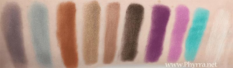 8 Bit Cosmetics Swatches