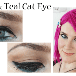 Black and Teal Cat Eye Tutorial