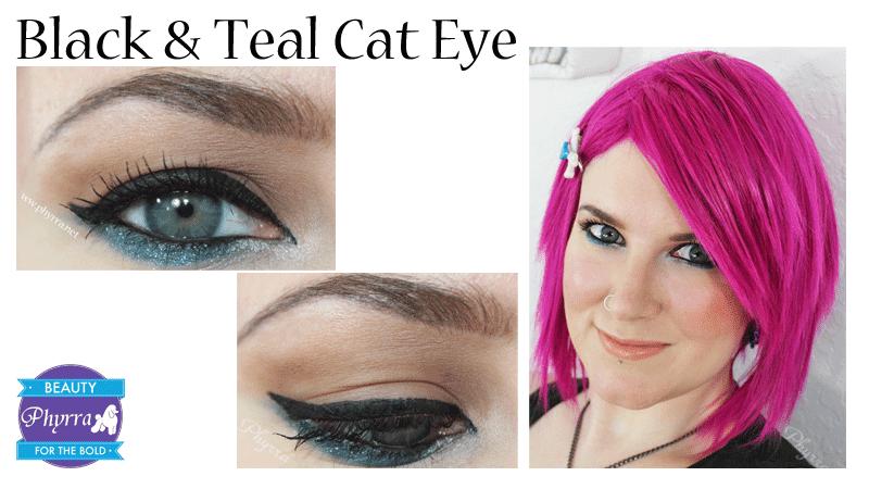 Black and Teal Cat Eye Tutorial