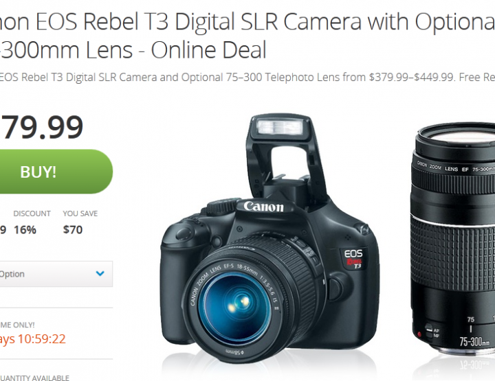 Canon Rebel T3 Deal on Groupon