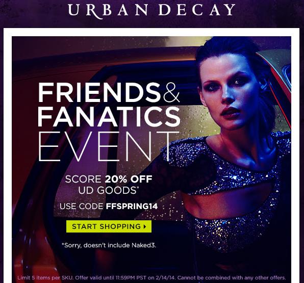Urban Decay Friends & Fanatics Sale is Here!
