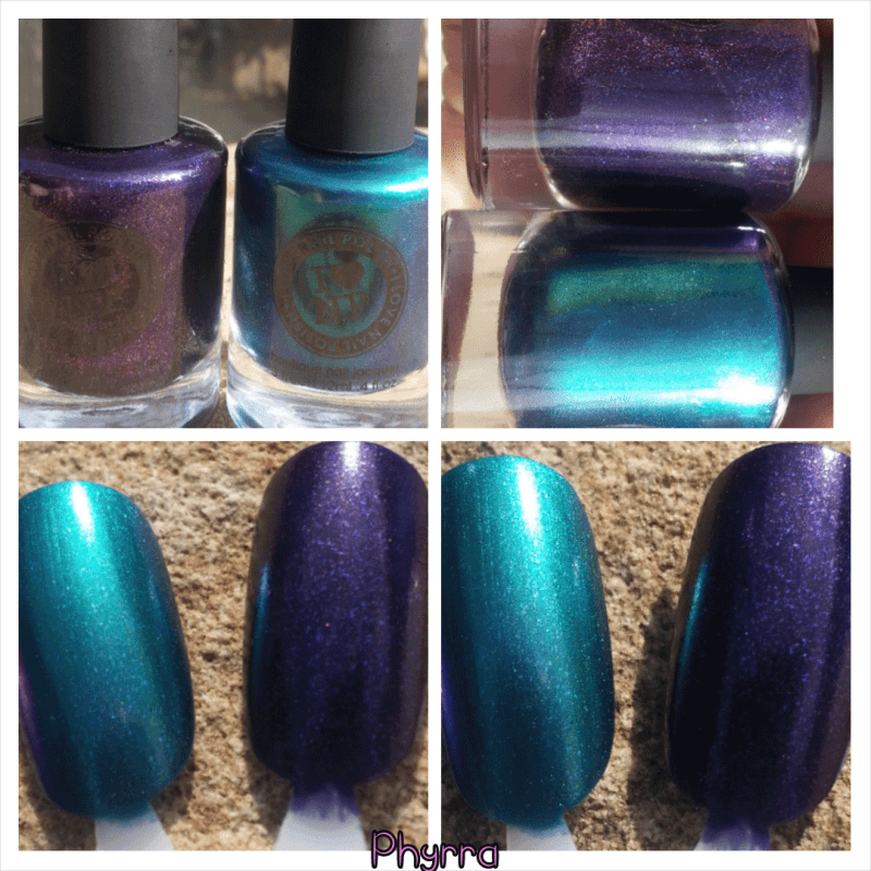 ILNP Washed Ashore and Contraband Nail Polish Swatches