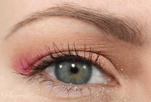 Coral Gold Pink Eyeshadow Tutorial