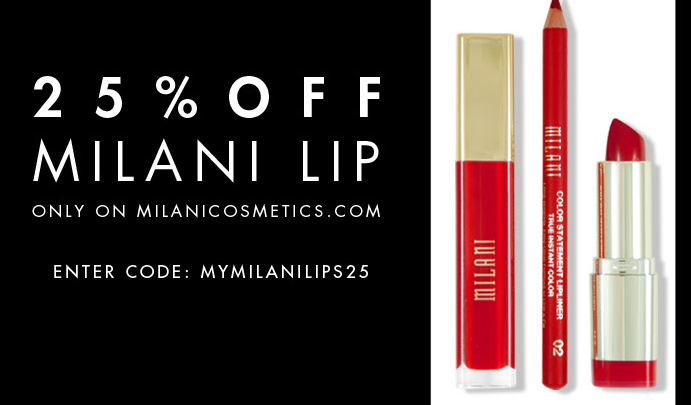 25% Off Milani Lip Products