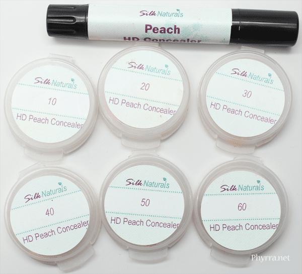 Silk Naturals Peach HD Cream Concealer Review Swatches