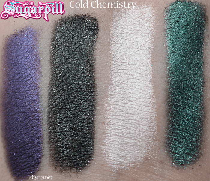 Sugarpill Cold Chemistry Review Swatches