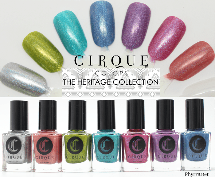 Cirque Heritage Collection Review Swatches