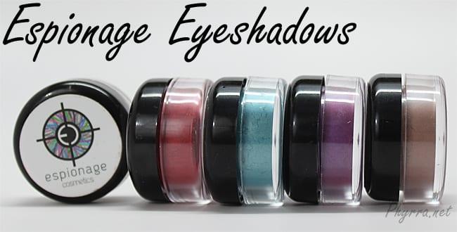 Espionage Eyeshadows Review