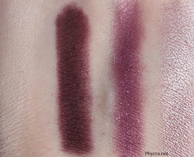 Kat Von D Chrysalis Lifelike - Hybrid Moments - Mezzanine - Transition Swatches Review