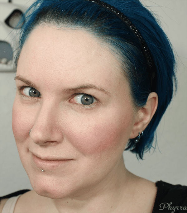 Wearing the NARS Contour with blush