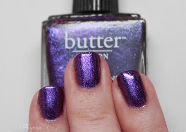 butter LONDON Stroppy purple nail polish mani