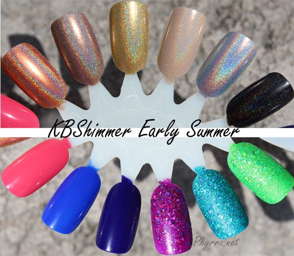 KBShimmer Early Summer collection review and swatches