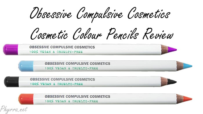 Obsessive Compulsive Cosmetics Cosmetic Colour Pencils Review Swatches Video