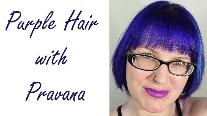 Purple Hair with Pravana
