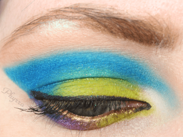 Green and Blue Makeup Tutorial