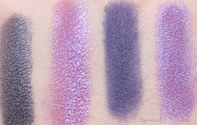 BFTE Love Potion #9, Colour Pop Dare, Pumpkin & Poppy Magic Carpet Ride, Femme Fatale Inner Madness Swatch