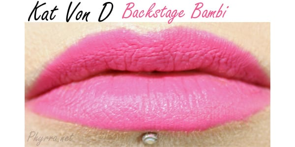 Kat Von D Everlasting Love Liquid Lipstick in Backstage Bambi