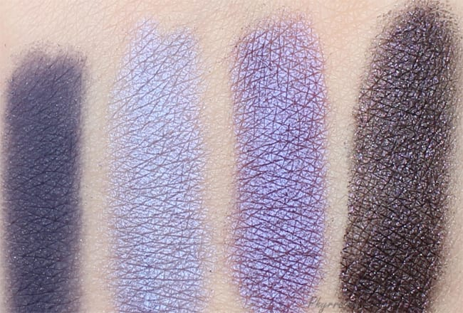 Makeup Geek Duchess, Makeup Geek Pop Culture, Inglot Pearl 439, NARS Tatar Swatch