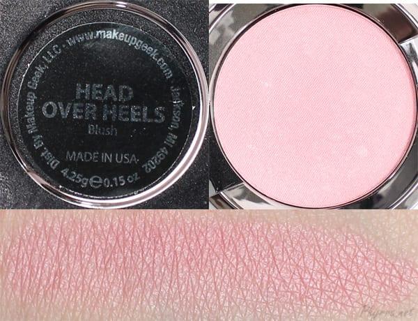 Makeup Geek Head Over Heels Swatches Review
