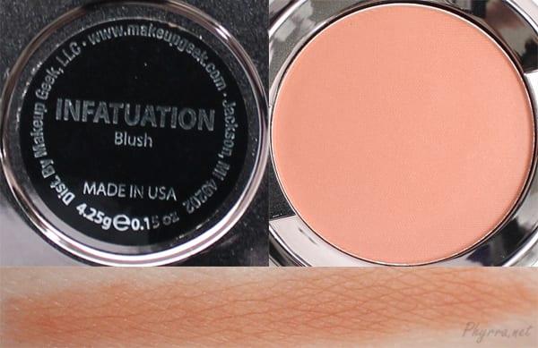 Makeup Geek Infatuation Swatches Review