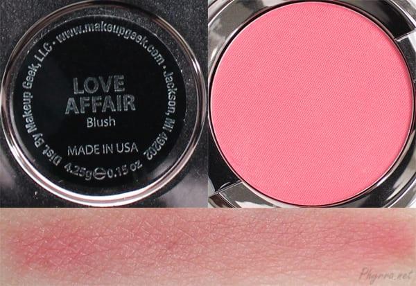 Makeup Geek Love Affair Swatches Review