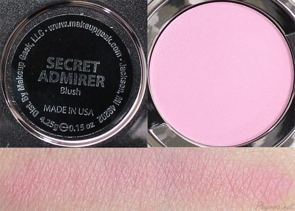 Makeup Geek Secret Admirer Swatches Review