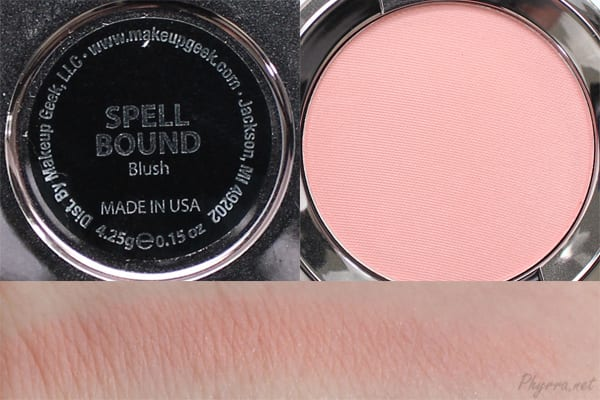 Makeup Geek Spellbound Swatches Review