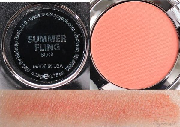 Makeup Geek Summer Fling Swatches Review
