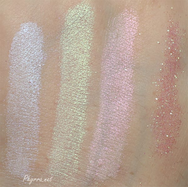 Obsessive Compulsive Cosmetics Loose Colour Concentrates Swatches Review