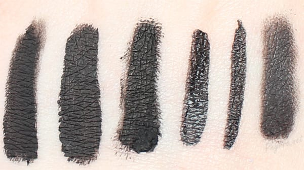 Best Cruelty Free Black Eyeliners Swatches