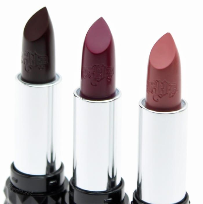 Kat Von D Studded Kiss Lipsticks in Motorhead, Bauhau5 and Lovecraft