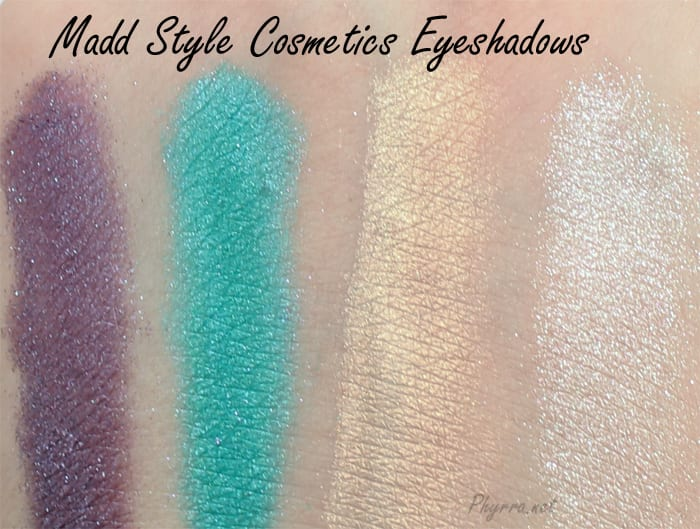 Madd Style Eyeshadow Swatches