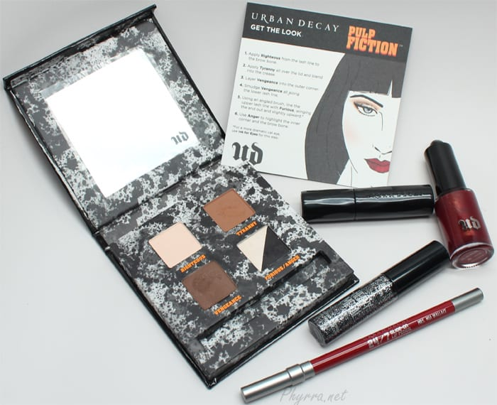 Urban Decay Pulp Fiction Mrs. Mia Wallace Collection Video Review Swatches