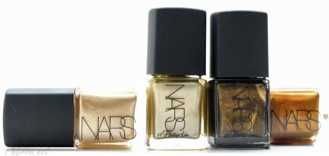 NARS Milos, Gold Viper, Insidious, Desperado