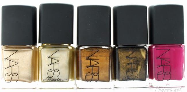 NARS Milos, Fearless, Gold Viper, Insidious Nail Polish Review