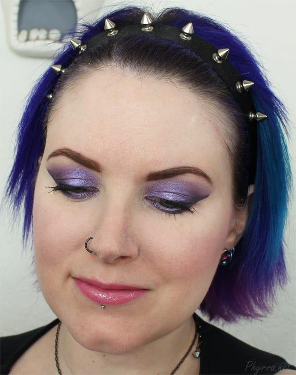 Urban Decay Purple Eyeshadow Tutorial with Omen