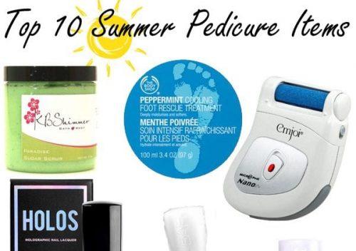 Top Ten Summer Pedicure Items
