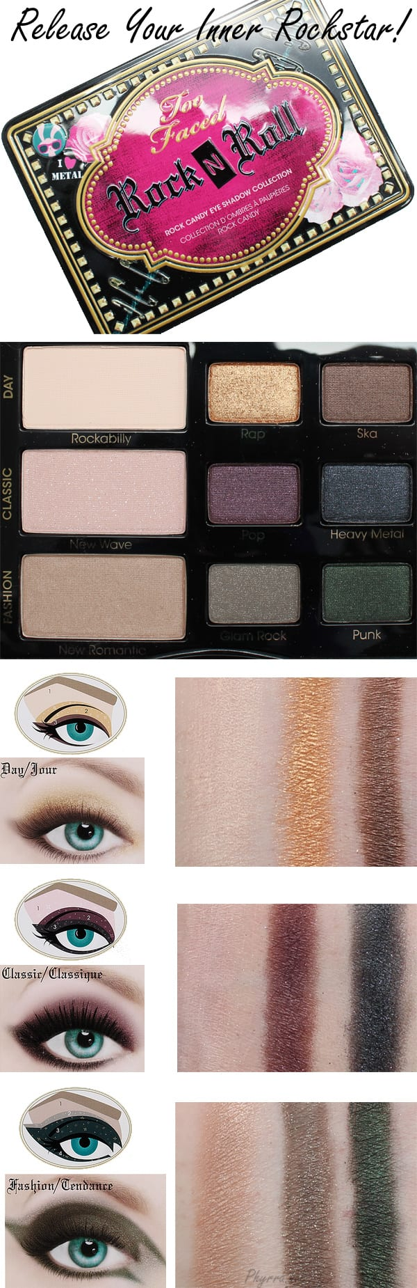Too Faced Rock n' Roll Palette Review Swatches Video