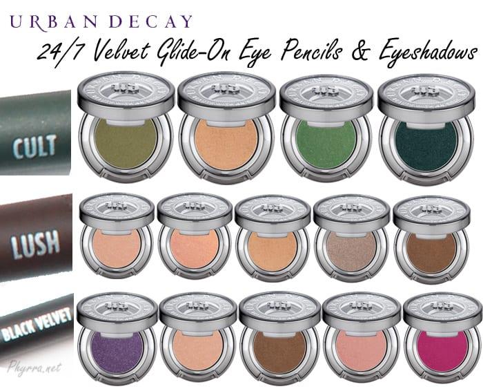 Urban Decay 24/7 Velvet Eyeliner and Eyeshadow Combinations