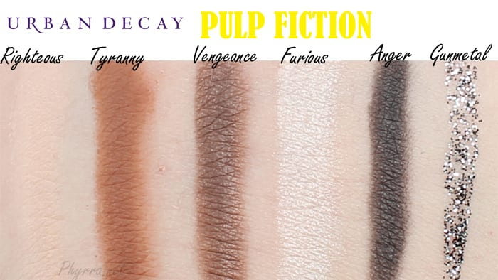 Urban Decay Pulp Fiction Palette Swatches Review Video